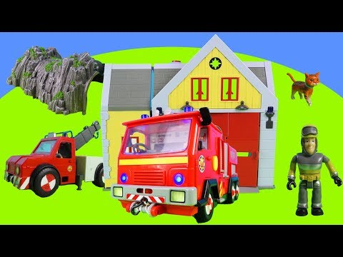 fireman-sam-toys- -fire-truck,-sam-s-tow-truck,-sam-saves-cat- -toys-for-kids