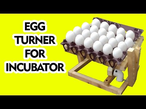 How to make automatic turning egg incubator tray - how to make tutorial - egg turner - egg incuabtor