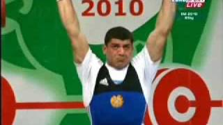 2010 European Weightlifting 85 Kg Clean and Jerk..wmv