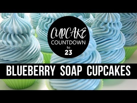 Blueberry Soap Cupcakes | #CUPCAKECOUNTDOWN | Royalty Soaps