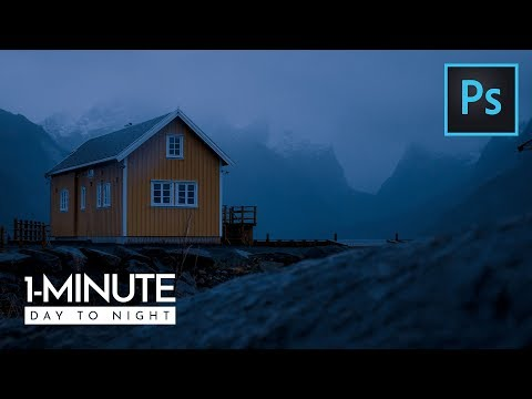 1-Minute Photoshop | How To Turn Day into Night in Photoshop thumbnail