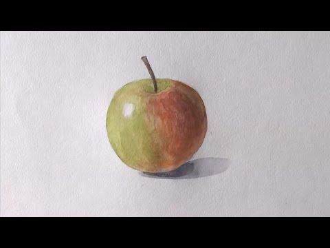 Как нарисовать яблоко фото
