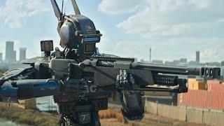"""Бросьте оружие, вы все арестованы! - """"Робот по имени Чаппи"""" отрывок из фильма"""