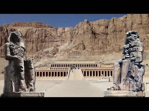 Hatshepsut's mortuary Temple - Colossi of Memnon - Luxor - Egypt