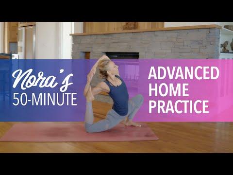 50-Minute Advanced Yoga Class | Yoga at Home with Yogi Nora