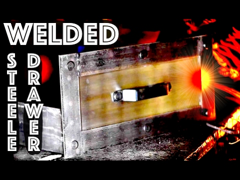 How to make Steel Drawers - Industrial Desk - Steampunk Furniture - Fabricating Drawers