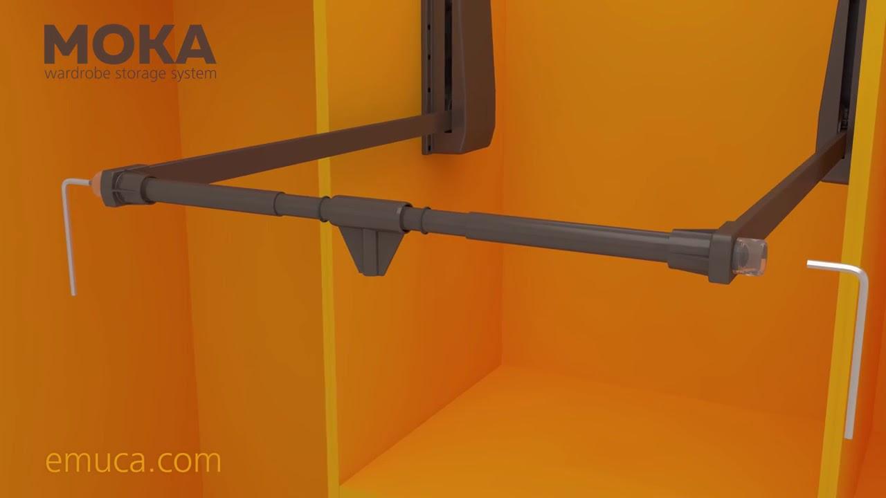 Penderie Escamotable Hang Charge 12kg Chrome Emuca Bricozor