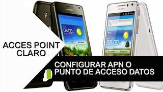 Huawei Ascend  Y360 ( Configuracion APN Internet claro Colombia )