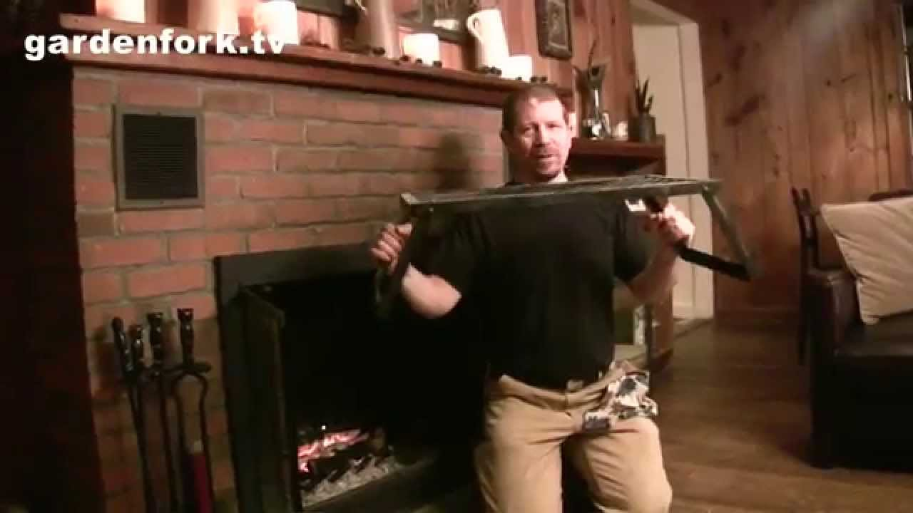 How to grill salmon, fireplace cooking - GardenFork - YouTube