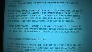 Wind Chill Warning for 8 Counties in Central Minnesota and 2 Station IDs {NO EAS} 1-20-13