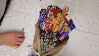 Как сделать букет из шоколада и конфет своими руками МК