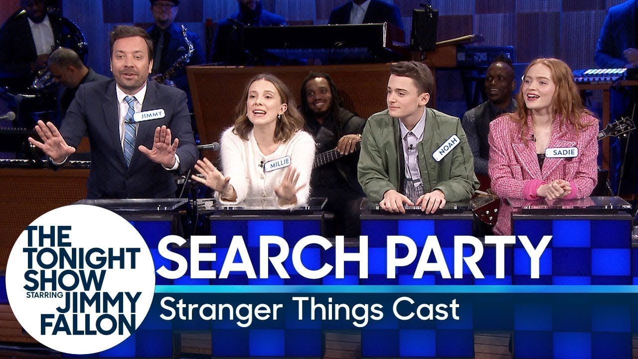 Search Party with the Stranger Things Cast