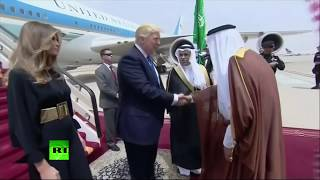 RAW  Trump touches down in Saudi Arabia on first foreign visit, meets King Salman