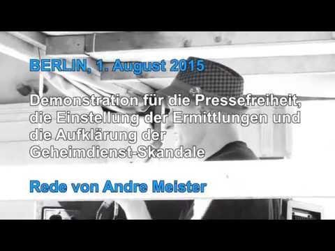 Redebeitrag Andre Meister (netzpolitik.org), Demo für Pressefreiheit, Berlin am 1.8.2015