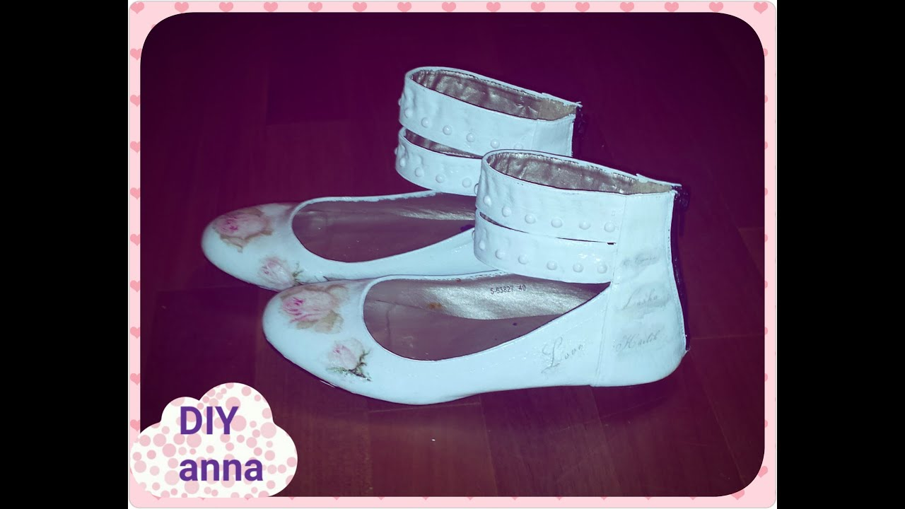 decoupage old shoes roses napkin ideas DIY craft ...