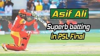 Asif Ali Superb batting in PSL Final | HBL PSL