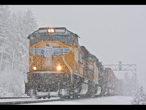 Union Pacific Trains Battle Donner Pass Snow
