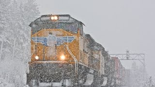Union Pacific Trains Battle Donner Pass Snow