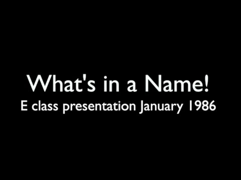 Design Academy Eindhoven 'Name Show' presentation January 1986