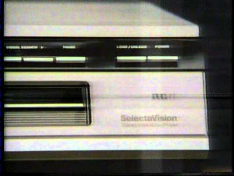 1982 commercial for RCA SGT250 Selectavision stereo CED Videodisc player