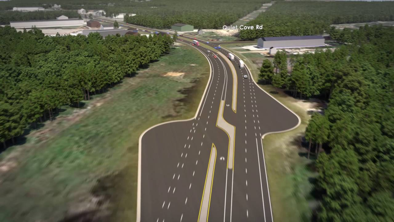 N C  150 Widening Visualization