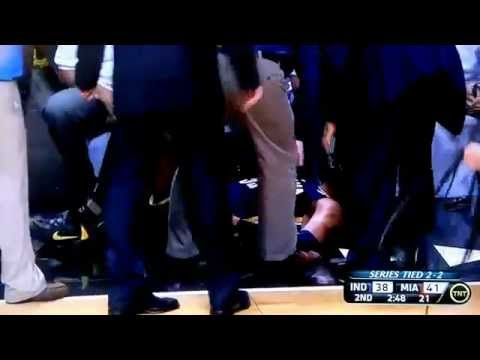 Danny Granger Ankle Injury - Pacers @ Heat, Game 5 (05/22/12)