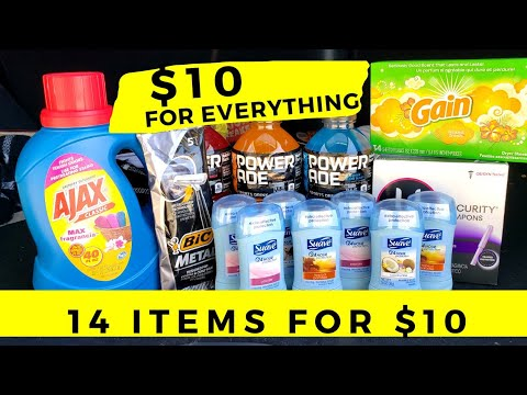 Dollar General Easy Coupon Deal ALL DIGITAL COUPONS! $10 Budget