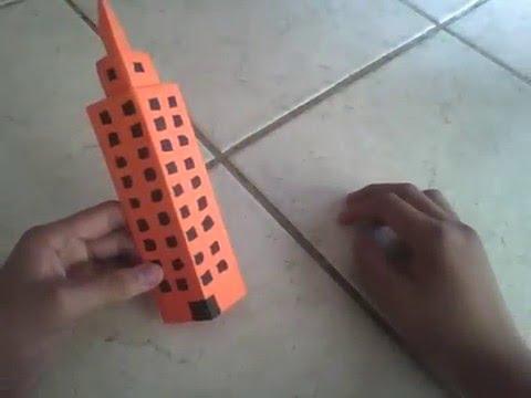 Edificio o rascacielos de papel papiroflexia youtube for Programa para hacer edificios en 3d