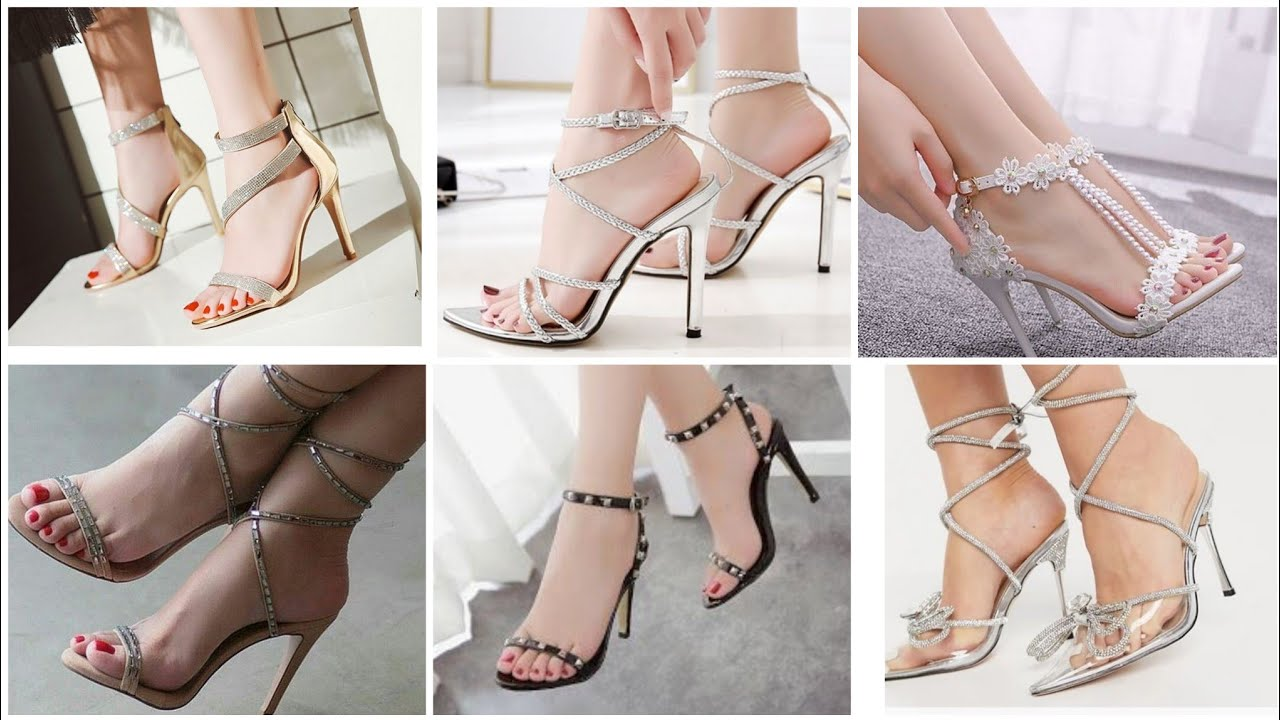 44 Stylish Bridal Foot Wear Collection 2021//Party Wear High Heel Open Toe Sandals Designs