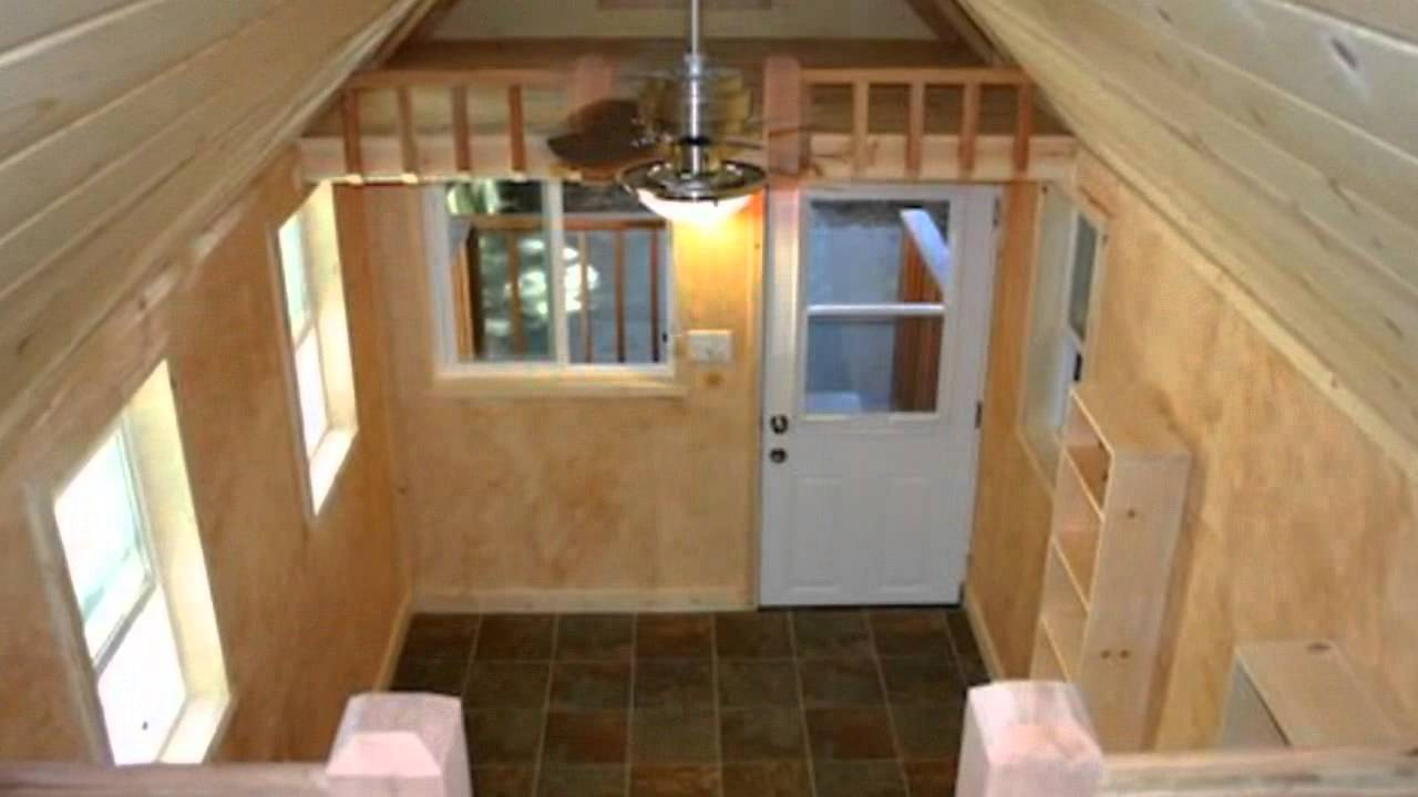 Tiny house on a trailer with two lofts and big porch youtube - The house on four wheels ...