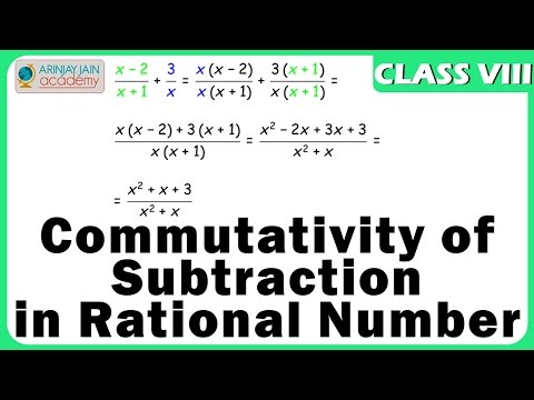 Properties of Rational No - Commutativity of Subtraction - Number System - Maths