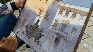 Plein Air Watercolour Landscape Painting   EPISODE  20   Italy   Ganesh Hire