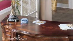 Exton Square Half Round Secretary Desk by Ashley Furniture