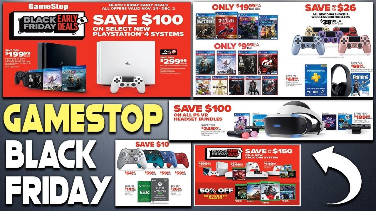 Black Friday 2019 Gamestop Early Deals Revealed 4 New