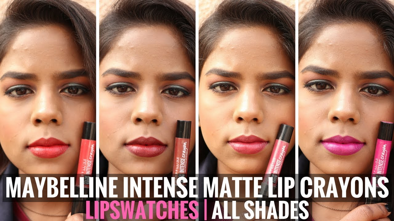 ccc86e9b8fa Maybelline Color Show Intense Lip Crayon Lip Swatches   Review