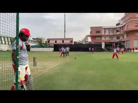 IPL 2019 : Chris Gayle, Nicholas Pooran Batting Practice Session :  Kings XI Punjab