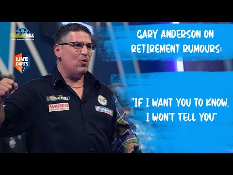 """Gary Anderson on retirement rumours: """"If I want you to know, I won't tell you"""""""