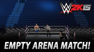 WWE 2K15: How To Have An Empty Arena Match! (PC Version)