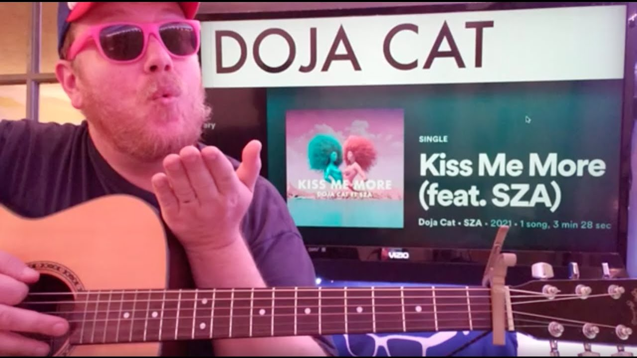 How To Play Kiss Me More Guitar Doja Cat SZA // easy guitar tutorial  beginner lesson easy chords