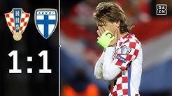 Luka Modrić und seine Kroaten müssen zittern: Kroatien - Finnland 1:1 | Highlights | WM-Quali | DAZN