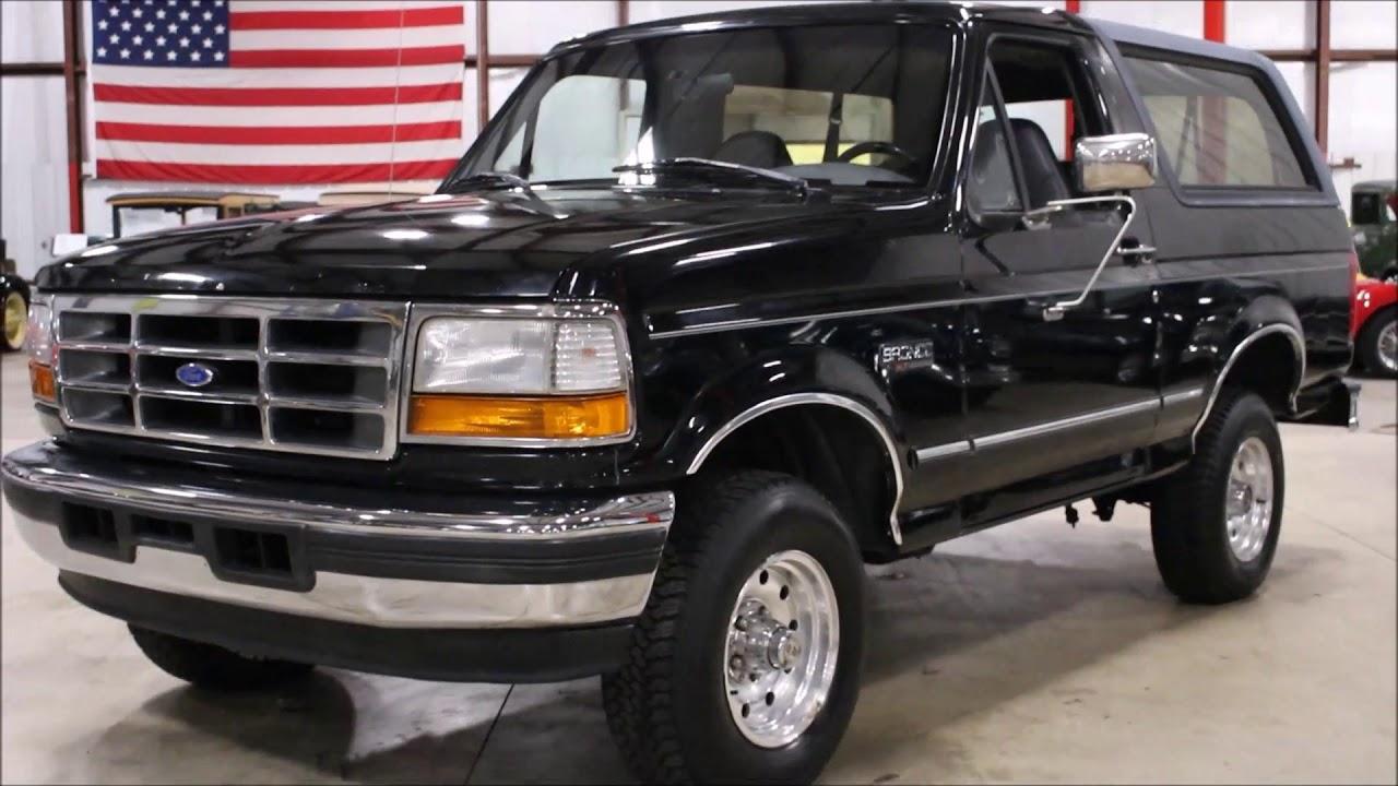 1996 ford bronco black