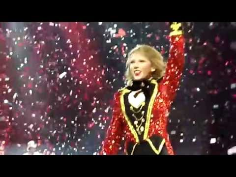 GIRL RUNS ON STAGE! Taylor Swift  Louisville, KY Red Tour