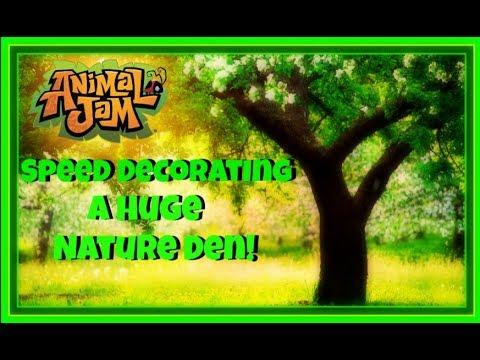 Download Animal Jam: Speed Decorating A Huge Nature Den!