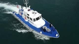 內政部警政署高雄港警察總隊 委託新昇發製造46呎高速鋁合金巡邏艇空拍