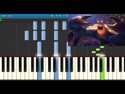 Vaiana - bling bling Tamatoa (Moana - Shiny) - Karaoke / Piano synthesia (+ lyrics & Sheet music)