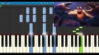 Vaiana - bling bling Tamatoa (Moana - Shiny) - Karaoke / Piano synthesia (+ lyrics & Sheet music)