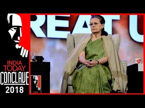 Watch : India Today Conclave 2018 Gives Sonia Gandhi A Grand Welcome