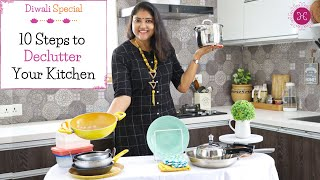 Declutter Your Kitchen with These Excellent Ideas / 10 Mindful Kitchen Decluttering Tips Indian