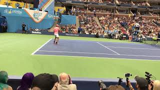 Nadal's forehand at US Open Arthur Ashe kids day 2017