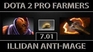 Illidan Anti-Mage Fast Farm ► 8.7K Player ► Dota 2 [7.01]